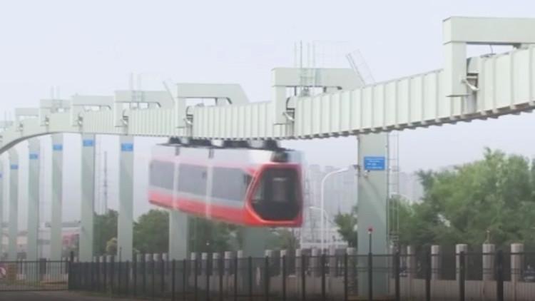 Prueban en China el 'Tren del cielo' (Fotos, video)