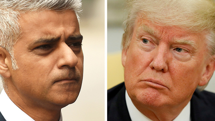 """El alcalde de Londres acusa a Trump de comportarse como un niño """"de 12 años"""""""