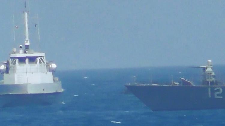 VIDEO: Así fue el tenso momento vivido entre el buque de EE.UU. y la nave iraní en el golfo Pérsico