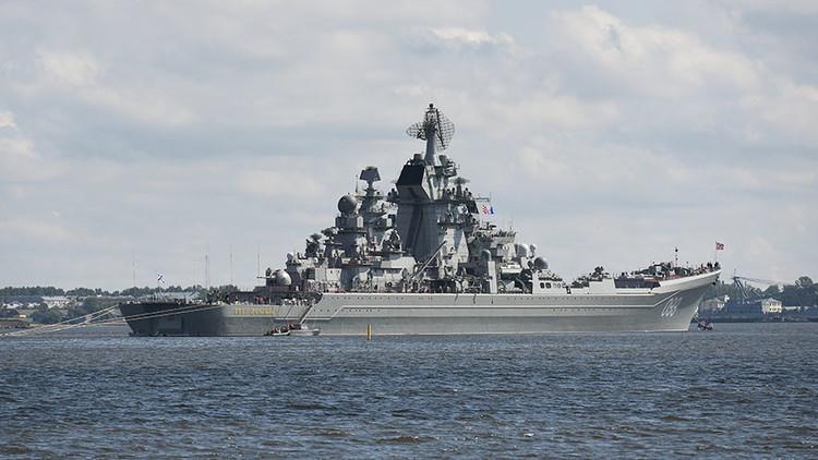 Las naves más potentes de Rusia se preparan para participar en el Día de la Armada