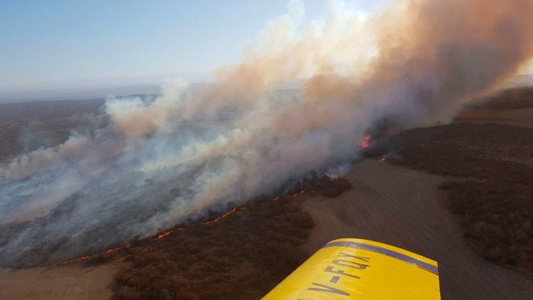 Un argentino trata de hacer un asado y quema 100 hectáreas de pastizales (FOTOS)
