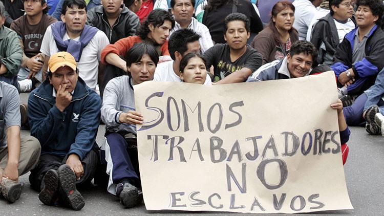 Argentina tiene trabajo esclavo en pleno siglo XXI