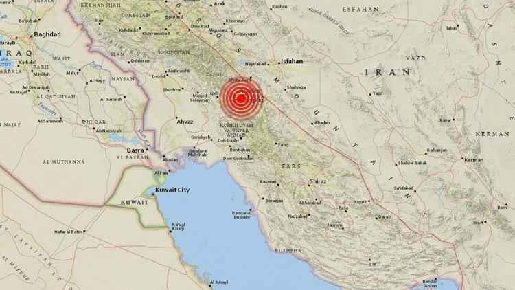 Irán registra un terremoto de magnitud 5,0