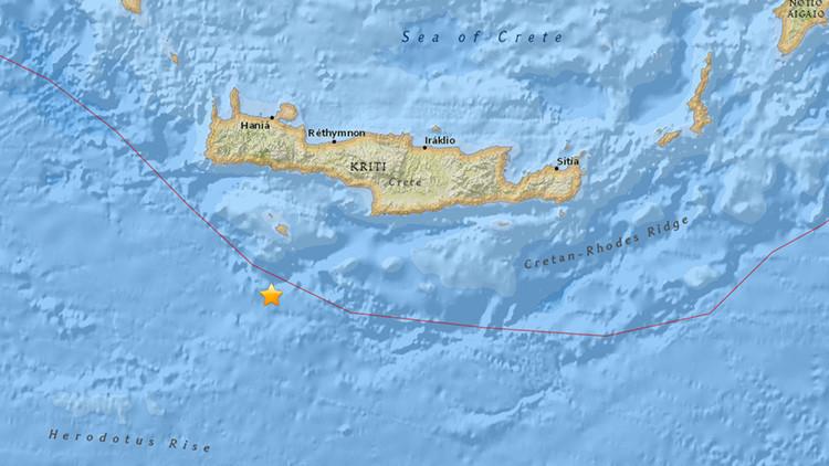 Un terremoto de magnitud 5,3 sacude las costas de Creta