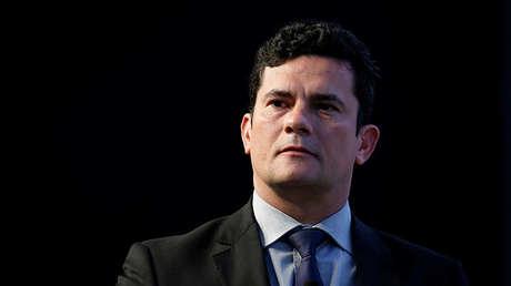 El juez federal brasileño Sergio Moro asiste a un discurso en las Conferencias de Estoril, Portugal. 30 de mayo de 2017.