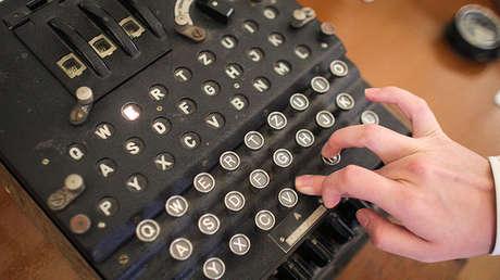 La máquina de cifrado de mensajes Enigma, el 11 de julio de 2017.