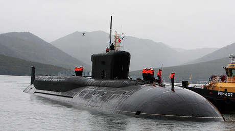Un submarino de la clase Boréi, proyecto 955, Rusia.