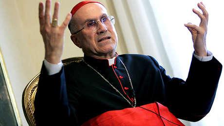Cardenal Tarcisio Bertone, el Vaticano, el 16 de marzo de 2005.