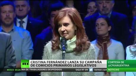 Cristina Fernández de Kirchner lanza su campaña para los comicios primarios legislativos