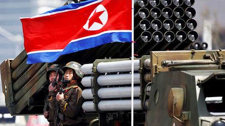Un desfile militar en Poongyang, Corea del Norte. 15 de abril de 2017