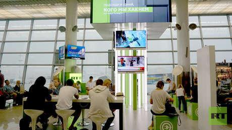 Una terminal del aeropuerto Sheremétievo de Moscú, Rusia.