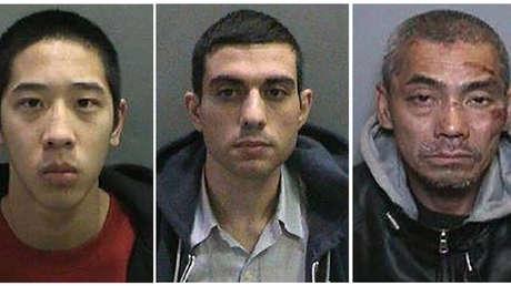 Jonathan Tieu, de 20 años, Hossein Nayeri, de 37 años, y Bac Duong, de 43 años, que escaparon de la cárcel del condado de Orange.