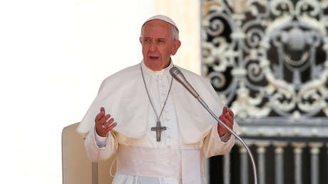 El papa Francisco durante su tradicional audiencia del miércoles en el Vaticano, el 21 de junio de 2017.