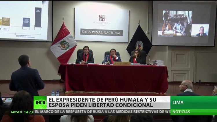 El expresidente de Perú, Ollanta Humala, y su esposa piden la libertad condicional