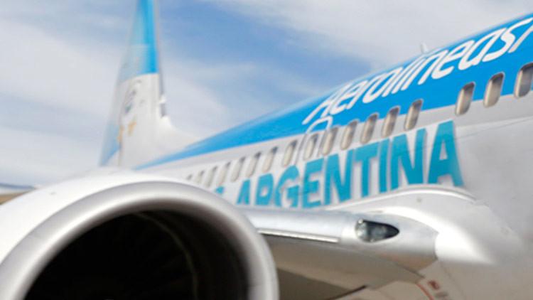 Aerolíneas Argentinas cancelan su vuelo semanal a Caracas