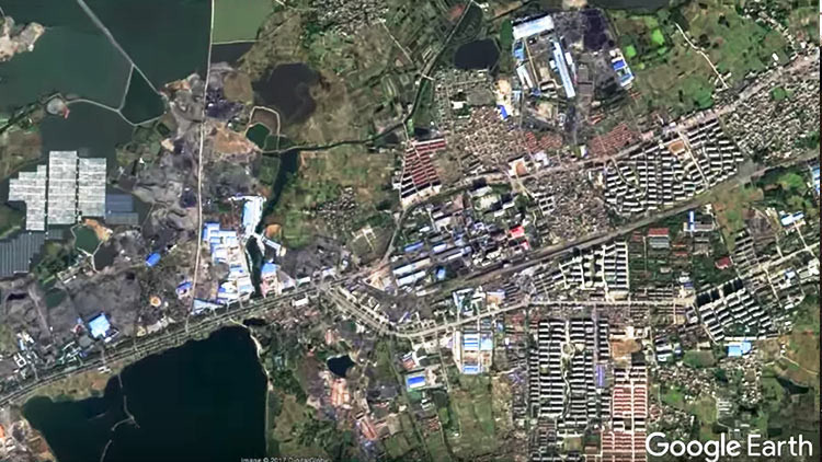 La granja solar flotante más grande del mundo en China, a vista de satélite (FOTOS)