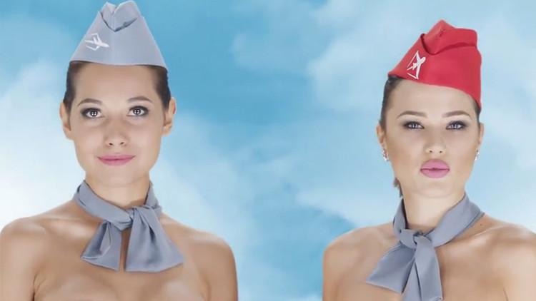 VIDEOS: Pilotos y azafatas desnudos invitan a viajar en un país de mayoría musulmana