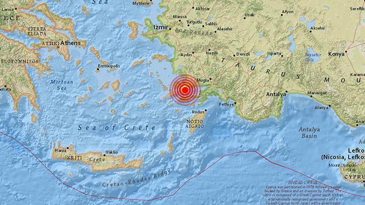Un terremoto de magnitud 5,3 sacude la costa turca