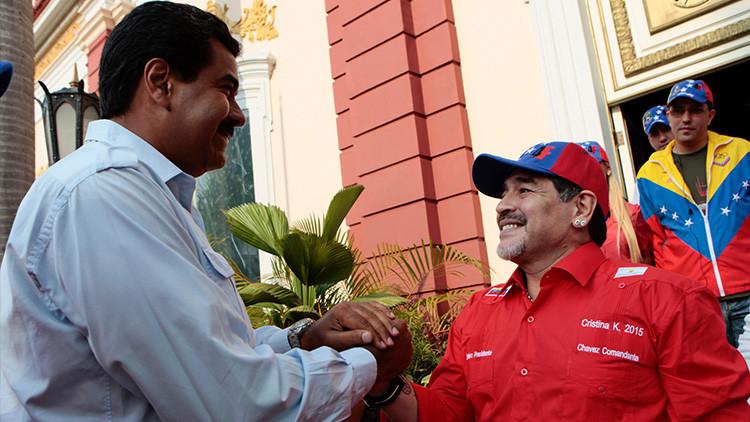 """Diego Maradona: """"Cuando Maduro ordene, estoy vestido de soldado"""""""