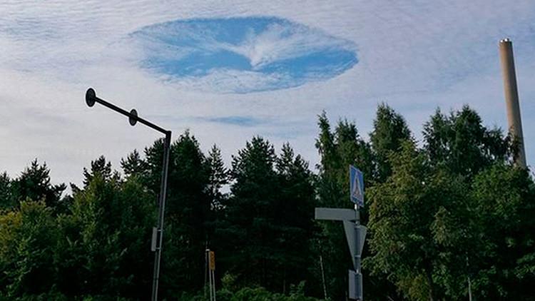 FOTOS: Uma enorme 'buraco' sobre a Finlândia fascina usuários de redes sociais