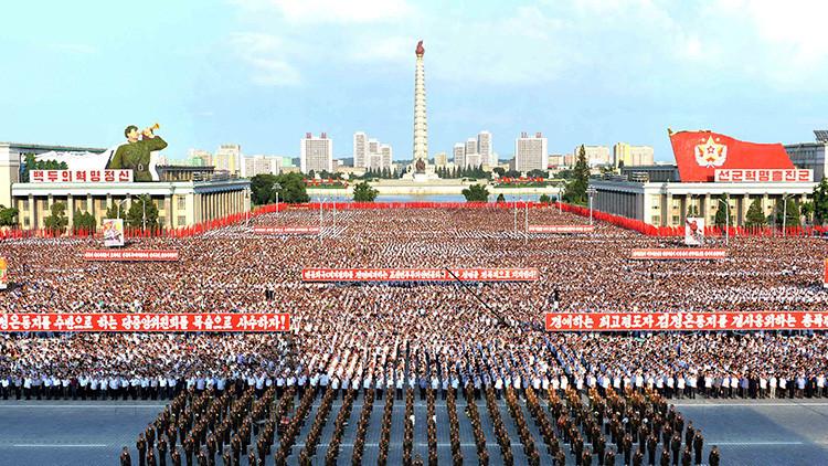 VIDEO: Miles de norcoreanos marchan contra las sanciones de la ONU