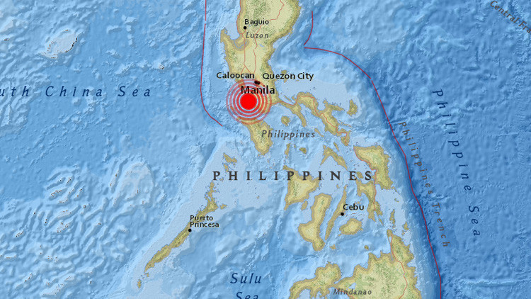 Filipinas sufre un terremoto de magnitud 6,2