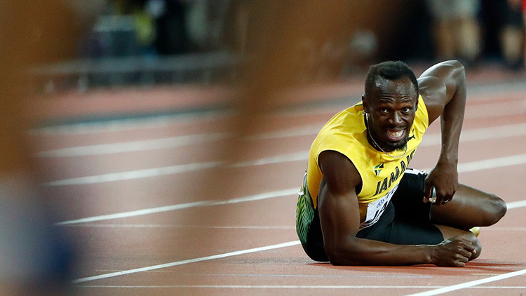 VIDEO: Bolt termina su carrera deportiva de la peor manera posible