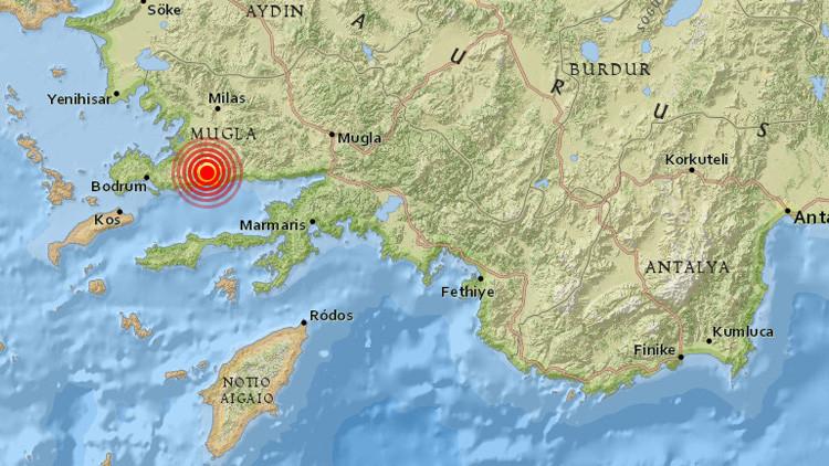 A magnitude 4.9 registrado na Turquia