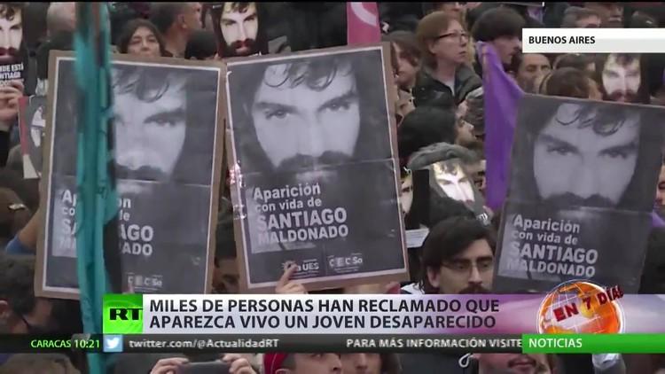 Miles de argentinos reclaman que aparezca vivo un joven desaparecido