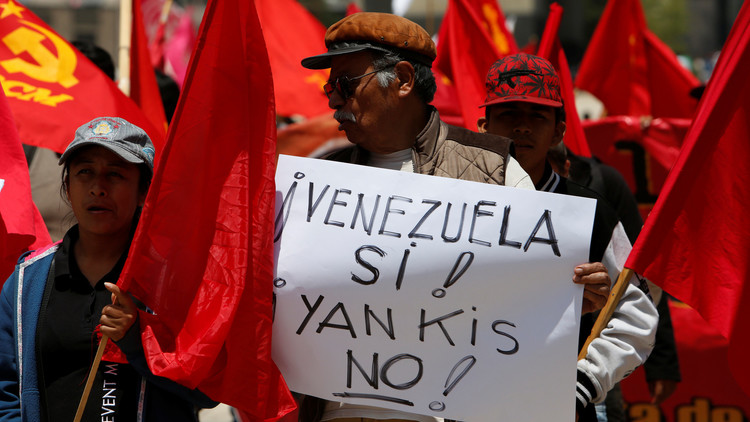 """""""Gran marcha antiimperialista"""" en Venezuela contra las amenazas de Trump (video)"""
