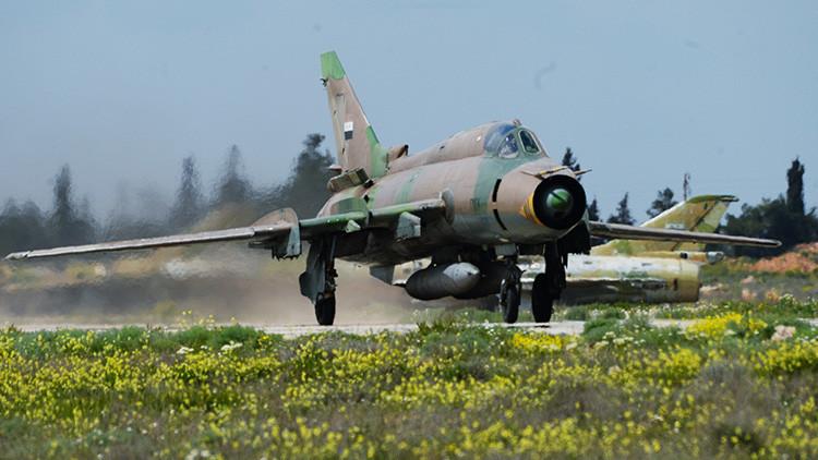 Derriban en Siria un caza MiG-21 de la Fuerza Aérea nacional