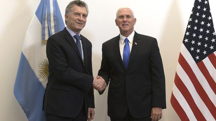 Mike Pence y Macri brindan conferencia de prensa desde Buenos Aires