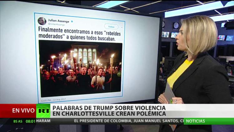 Palabras de Trump sobre violencia en Charlottesville crean polémica