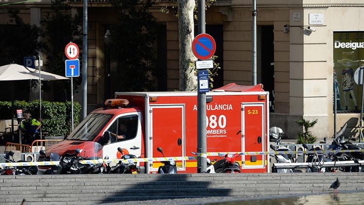 Así es la furgoneta del atentado de las Ramblas de Barcelona (VIDEO)