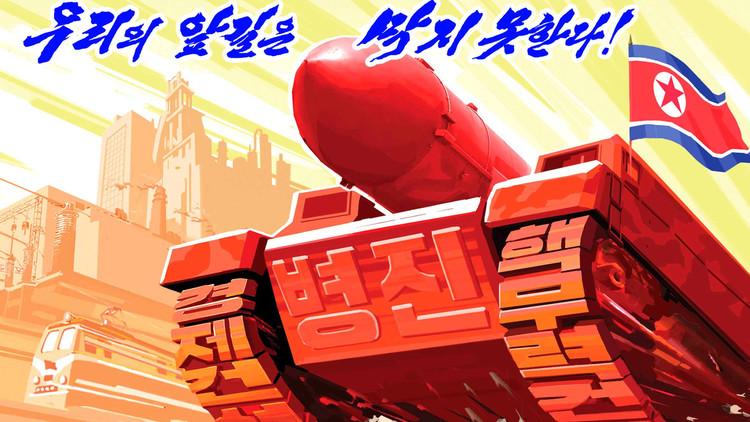 Corea del Norte 'destruye' con sus misiles el Capitolio y todo EE.UU. en una serie de carteles