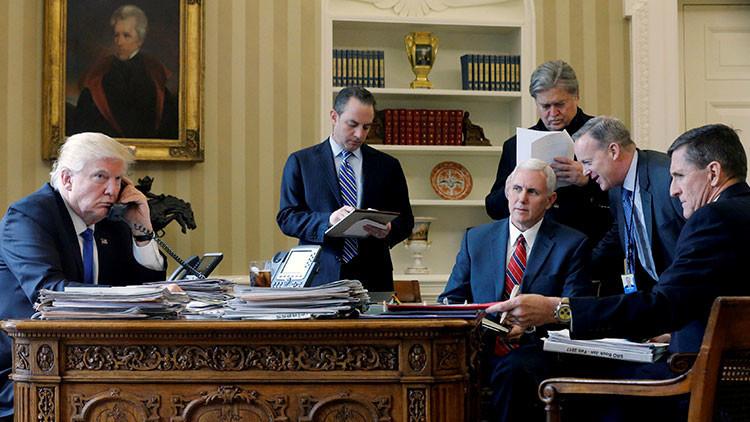 Fugitivos de la Casa Blanca: los brutales cambios en el Gobierno de Trump en una sola foto