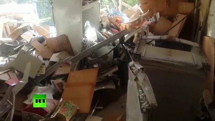 Video: Una explosión convierte en escombros un apartamento en el este de Rusia
