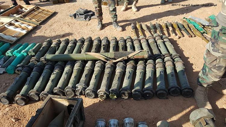FOTOS: El Estado Islámico abandona un impresionante arsenal tras una ofensiva militar en el Líbano