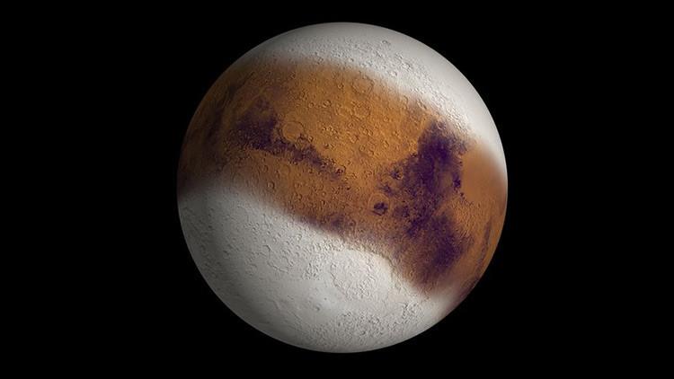 Fuertes nevadas nocturnas sacuden Marte