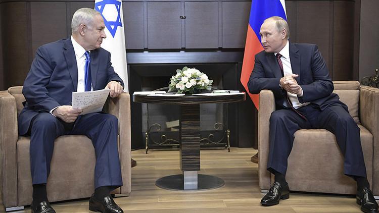 """Netanyahu a Putin: Irán debe retirarse de Siria o Israel """"se defenderá con todos los medios"""""""