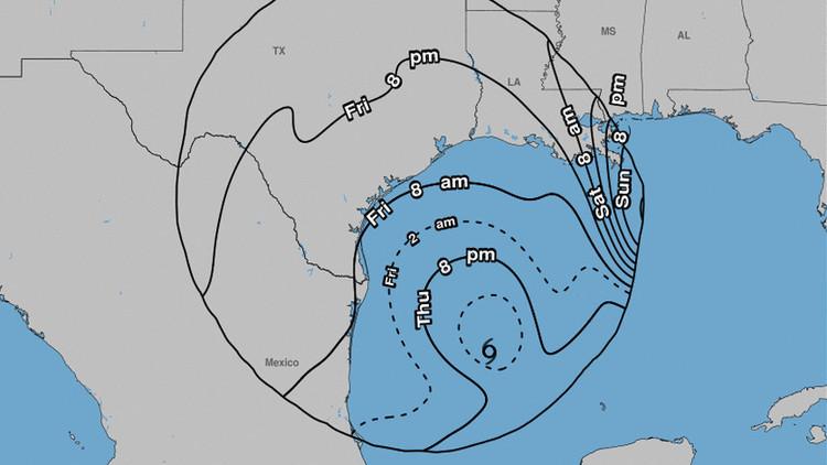 La tormenta tropical Harvey se convierte en huracán en el golfo de México