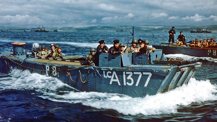 El desembarco de Normandía 'a todo color': Revelan fotos inéditas de la Segunda Guerra Mundial