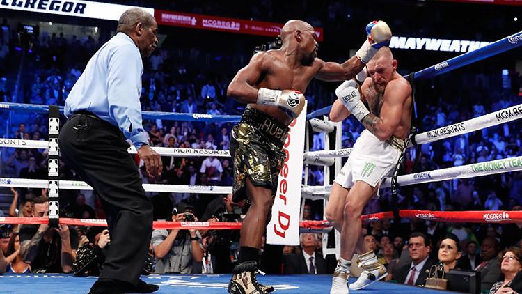 Mayweather derrota a McGregor por nocaut técnico en la 'pelea del siglo'