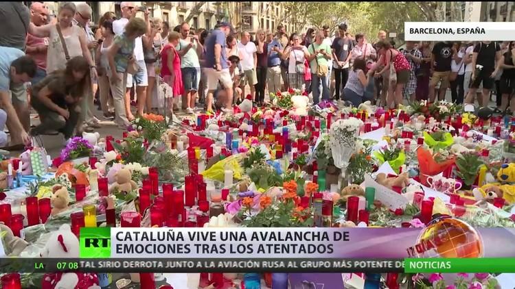 Barcelona vive una avalancha de emociones tras los atentados