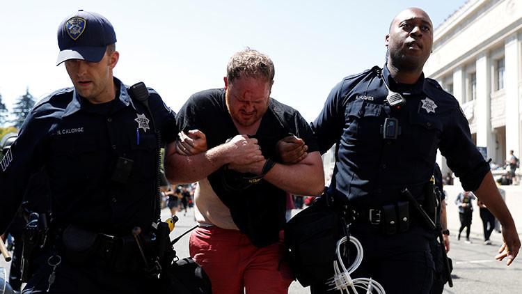 VIDEO: Nuevo estallido de violencia en EE.UU. entre izquierdistas y derechistas en Berkeley