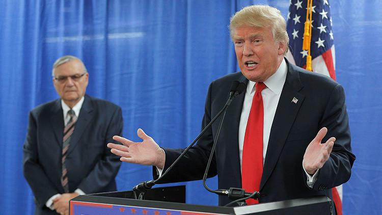 """Trump: """"Indulté a Arpaio durante el huracán porque pensé que los 'ratings' de TV serían más altos"""""""