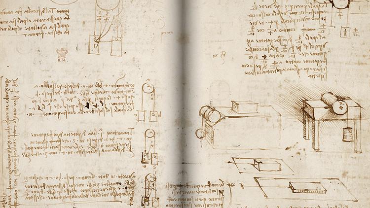 Un manuscrito digitalizado de Leonardo Da Vinci está disponible gratuitamente en Internet