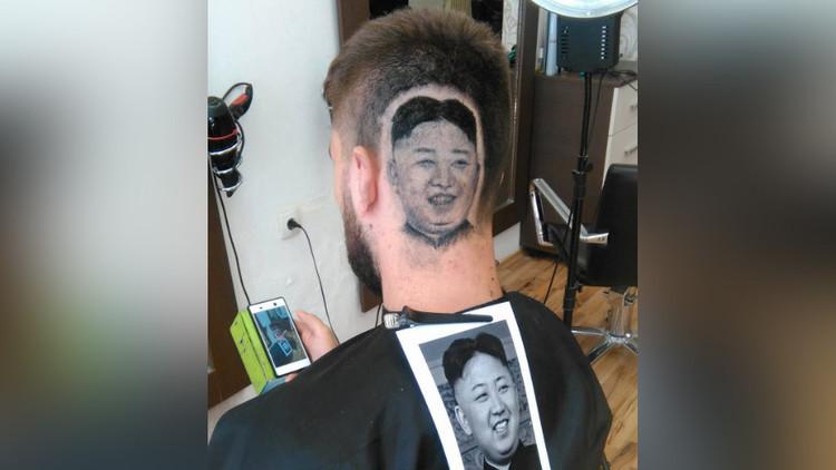 VIDEO: Este barbero rasura el retrato de Kim Jong-un en el cuero cabelludo de su cliente