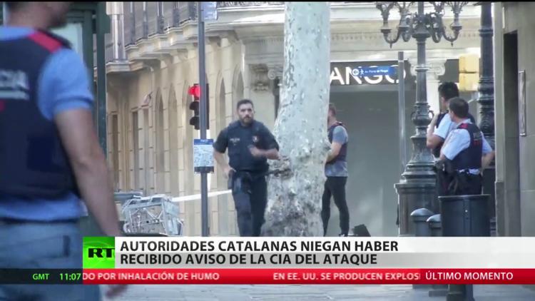 Autoridades catalanes niegan haber recibido un aviso de la CIA sobre un atentado