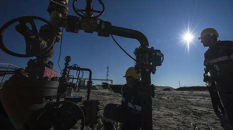 Trabajos de una subsidiaria de Rosneft en el distrito federal del Ural, Rusia.